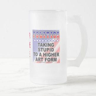 Politics - Stupid Frosted Glass Mug