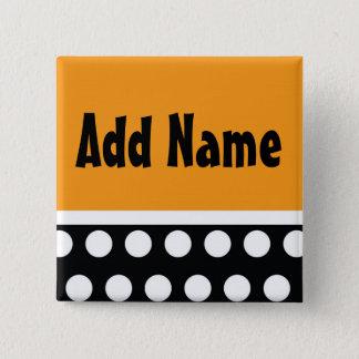 Polk A Dot Halloween Name Button