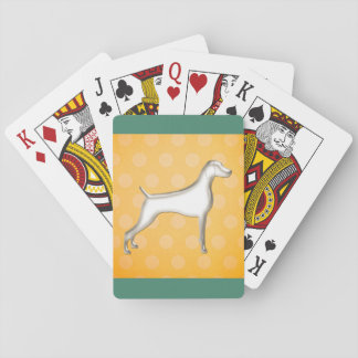 Polk-a-dot Weimaraner Playing Cards (yellow)