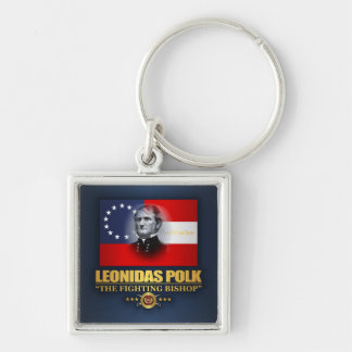 Polk (Southern Patriot) Silver-Colored Square Key Ring