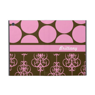 Polka Dot and Damask in Pink and Brown Covers For iPad Mini