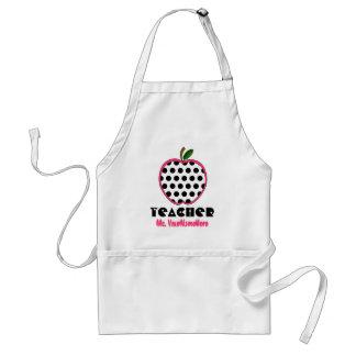 Polka Dot Apple Teacher Aprons