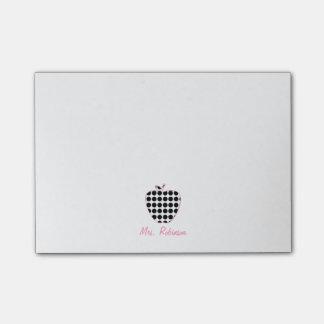 Polka Dot Apple Teacher Post-it Notes