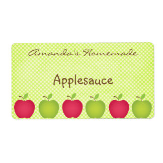 Polka Dot Apple Themed Canning Label