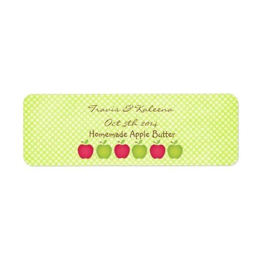 Polka Dot Apple Themed Favour Label