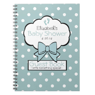 Polka Dot Baby Shower Guest Book- Notebooks