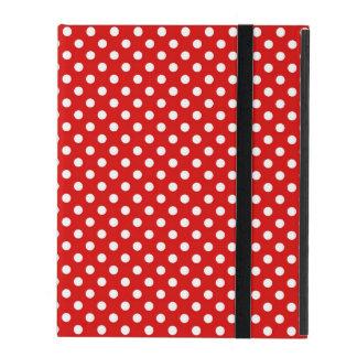 Polka dot background iPad case