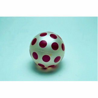 Polka dot ball toy for kids standing photo sculpture