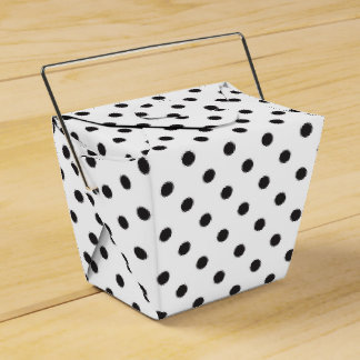 Polka Dot Black And White Wedding Party Favour Boxes