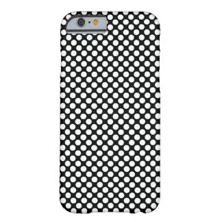 Polka Dot (Black & White) Any Size Customisable Barely There iPhone 6 Case