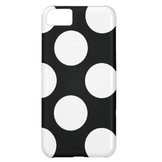 Polka Dot (Black & White) Any Size Customisable iPhone 5C Case