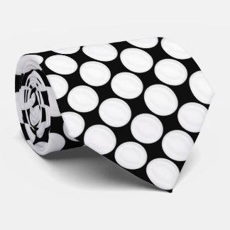 Polka Dot Black & White Tie
