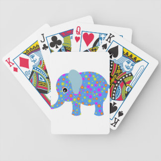 POLKA DOT BLUE ELEPHANT BICYCLE PLAYING CARDS
