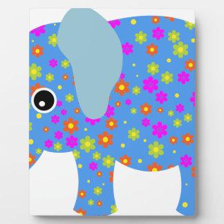 POLKA DOT BLUE ELEPHANT PLAQUE