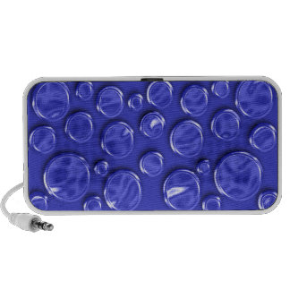 Polka dot blue metal elegant portable speakers
