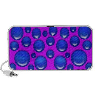 Polka dot blue pink retro circles notebook speakers