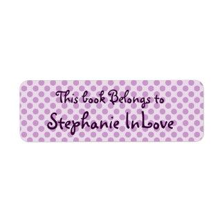 polka dot book plate return address label