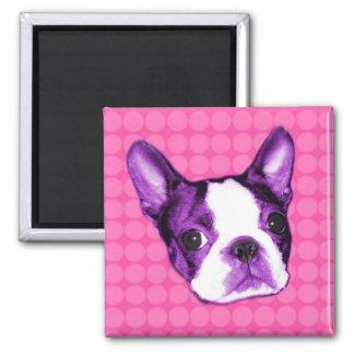 Polka Dot Boston Terrier Puppy Magnet