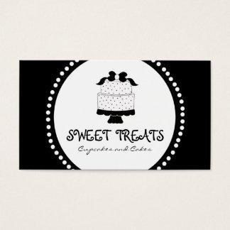 Polka Dot Bow Cake Bakery Business Cards