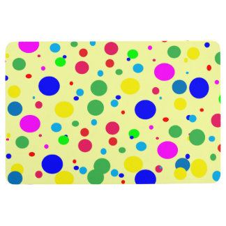 Polka Dot Bubble Balloon Colors Floor Mat