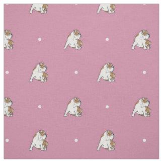 Polka Dot Bulldog Fabric