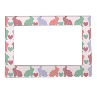 Polka Dot Bunnies Magnetic Picture Frame