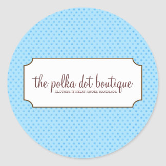 Polka Dot Business Stickers