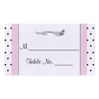 Polka Dot Butterfly Posh Wedding Place Cards Business Cards
