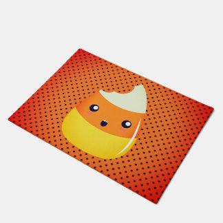 Polka Dot Candy Corn Fun Door Mat