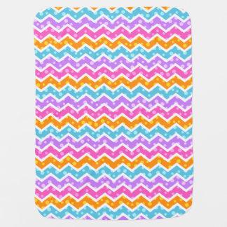 Polka Dot Chevron Baby Blanket