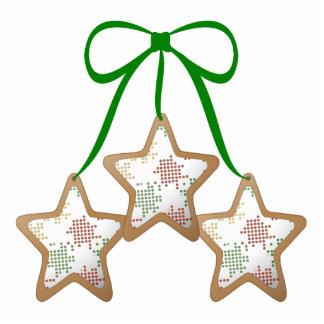Polka Dot Christmas Cookies Standing Photo Sculpture
