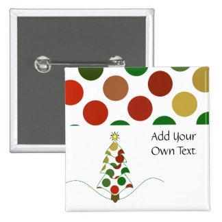 Polka Dot Christmas Tree Customizable Button