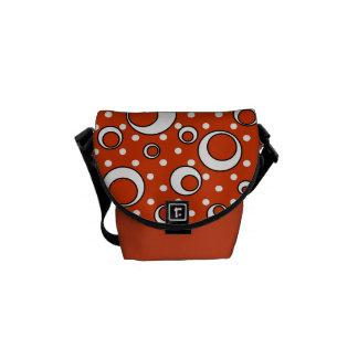 Polka Dot Circles in Orange Courier Bag