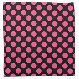 Polka Dot Cloth Napkins (set of 4) -Hot Pink/Black