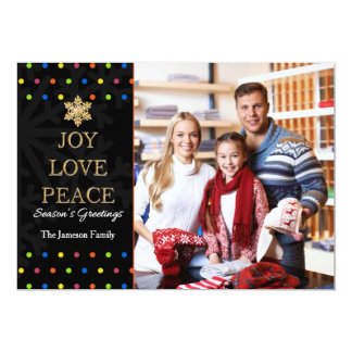 Polka Dot Colorful Personalized Christmas Card 13 Cm X 18 Cm Invitation Card