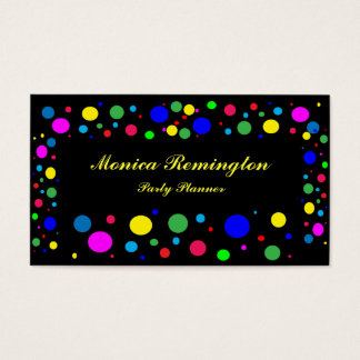 Polka Dot Colors Party Planner Business Card