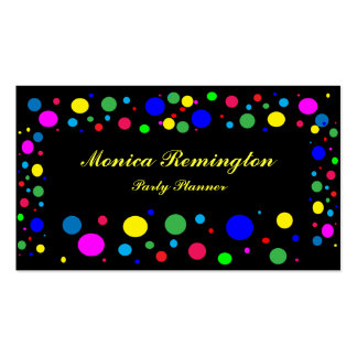 Polka Dot Colours Party Planner Business Card Template