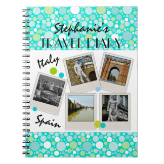 Polka Dot Crazy Custom Travel Diary and Photos Notebook