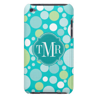 Polka Dot Crazy Pattern Monogram iPod Touch Cover