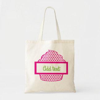 Polka Dot Cupcake in Pink