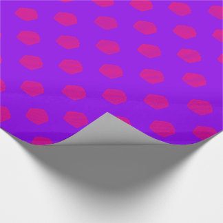 Polka dot cupcakes in purple and pink wrapping paper