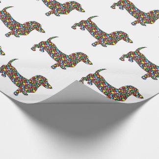 Polka Dot Dachshund Wrapping Paper
