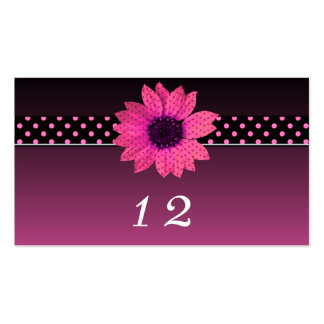 Polka Dot Daisy Pink Wedding Pack Of Standard Business Cards