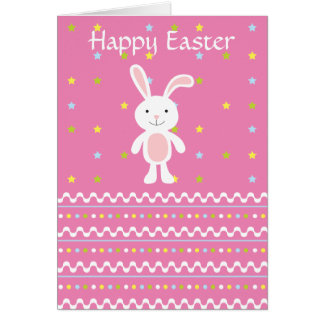 Polka Dot Easter Bunny Card