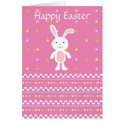 Polka Dot Easter Bunny Card