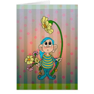 Polka Dot Elf Card