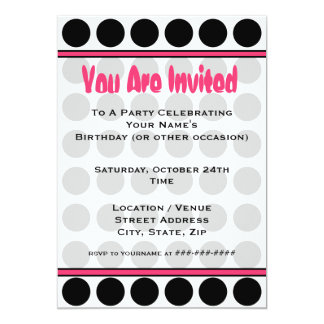 Polka Dot Fashion Invitation