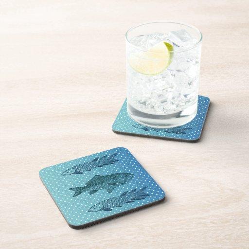 Polka Dot Fish Drink Coaster