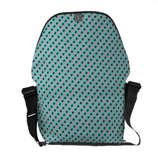 Polka Dot Flower Pattern Blue Messenger Bag