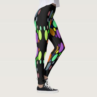 POLKA DOT Fun Fashion Leggings-Women-Multicolored Leggings